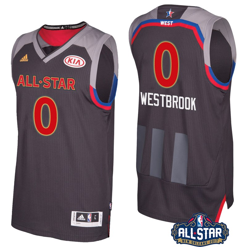 Vendita Nuove Maglia NBA 2017 All Star NO.0 Russell Westbrook Carbone